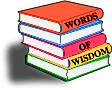 Words Of Wisdom Books Clip Art